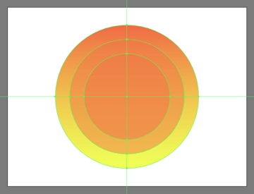 adding the smaller circle to the suns glow section
