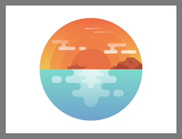 adding the two plane trails to the illustrations background