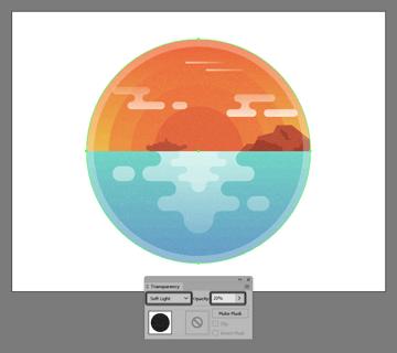 adjusting the illustrations texture