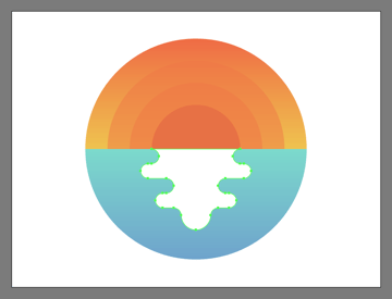 adjusting the shape of the illustrations outer water reflection