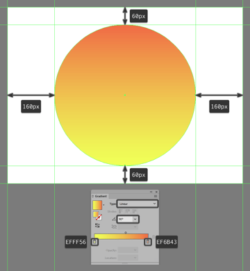 creating and positioning the main shape for the illustrations background