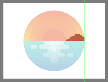 drawing the illustrations island using the pen tool