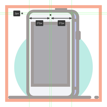 adding the front facing camera to the third phones front section
