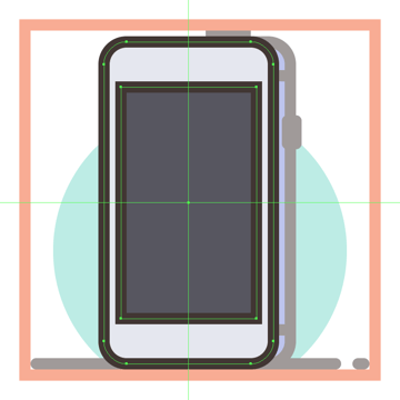 adding the screen to the third phones front section