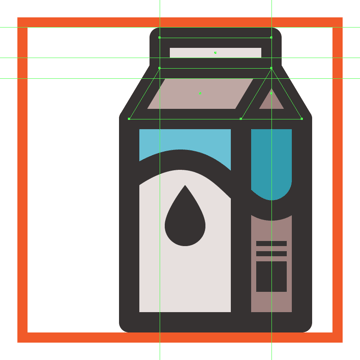 adding the upper section of the milk boxs upper body