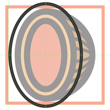 adding the vertical detail ring to the hams side section