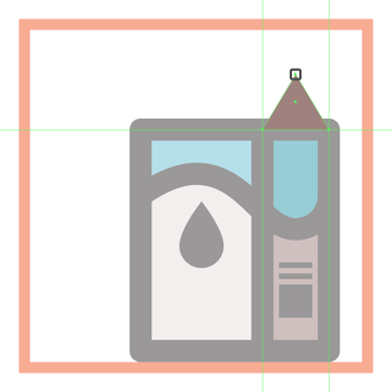 adjusting the shape of the side section of the milk boxs upper body
