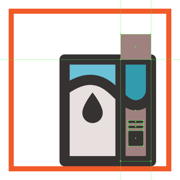 creating and positioning the main shape for the side section of the milk boxs upper body