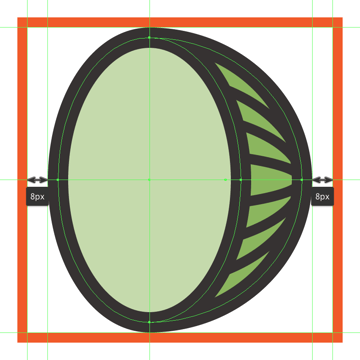creating and positioning the main shapes for the outer body of the melons front section