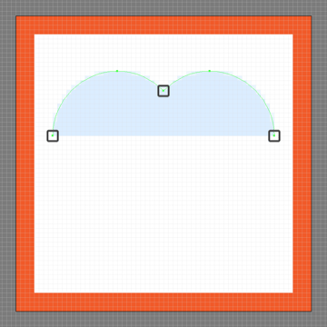 adjusting the shape of the like buttons upper body