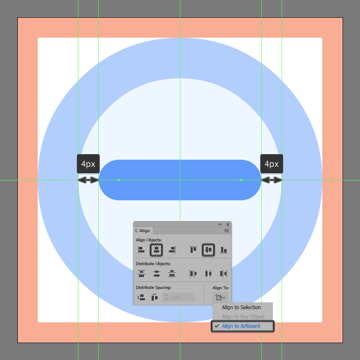 creating and positioning the main shape for the body of the back buttons arrow