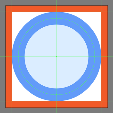 creating and positioning the main shapes for the information prompt buttons main body