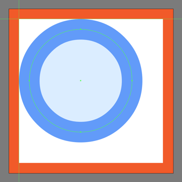 creating and positioning the main shapes for the search icons lens