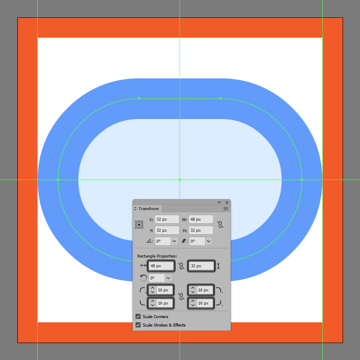 creating and positioning the main shapes for the toggle off buttons main body