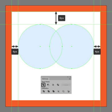 uniting the composing shapes of the like buttons upper body into a single larger shape