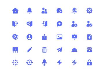 glyph icons by martin david