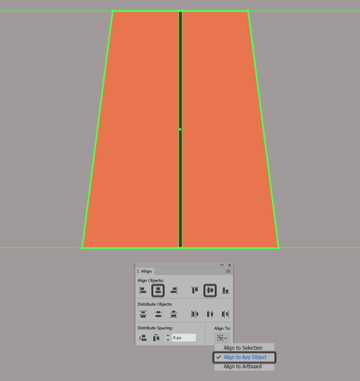 creating and positioning the main shape for the projected window frames vertical grid