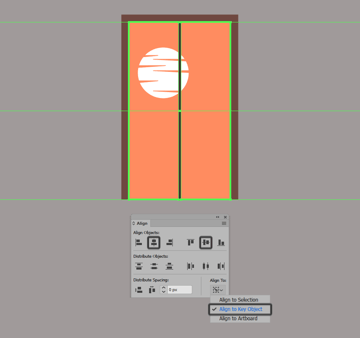 creating and positioning the main shapes for the window frames vertical grid