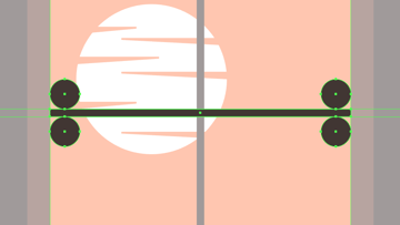 creating and positioning the main shapes for the horizontal grids outer rounded segments