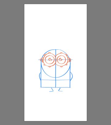 drawing the eyes for Bob