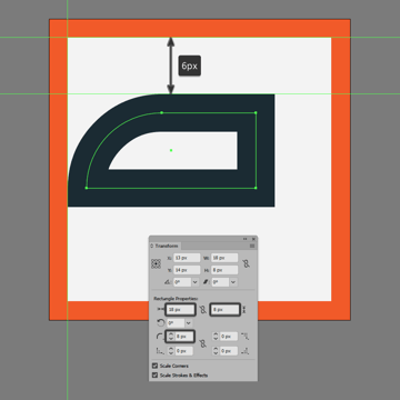 adjusting the shape of the upper section of the repeat button