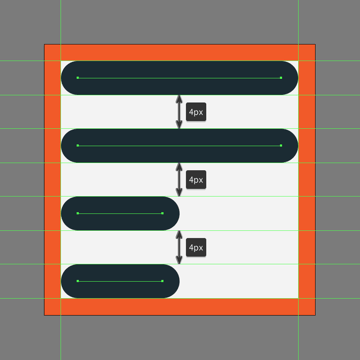 creating the main shapes for the left section of the add to playlist button