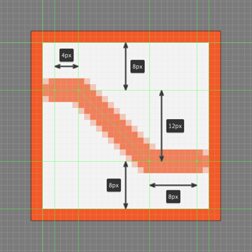 drawing the main shape for the upper section of the shuffle button