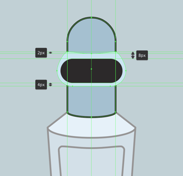 adjusting the shape of the outer section of the visor