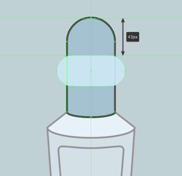 creating the outer section of the visor