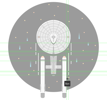 adding the right warp lines