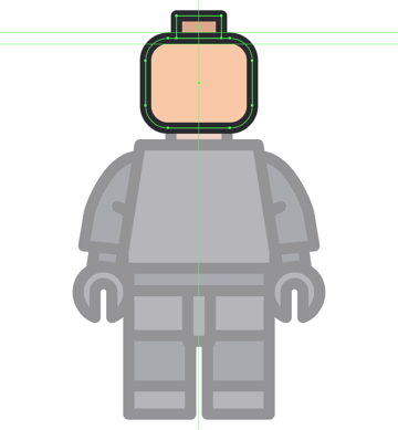 adding the connector section to the head