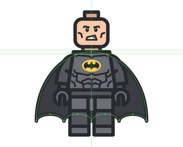 adding the outline to the cape