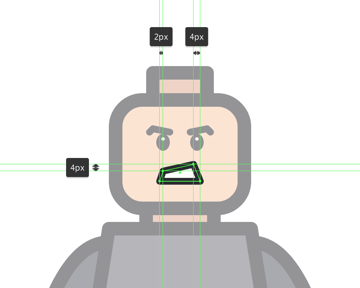 adjusting the shape of the mouth