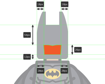 drawing the cutout for the mask