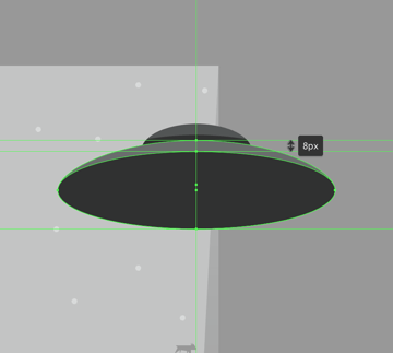 creating the bottom section of the saucer
