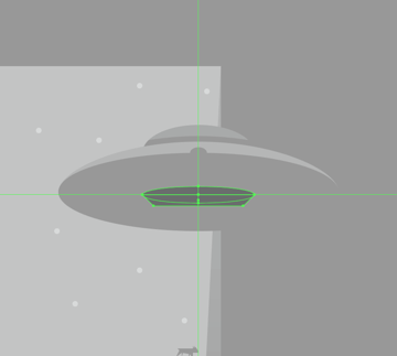 creating the center section of the tractor beam