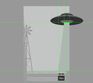 creating the tractor beam ray