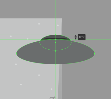 creating the main body of the saucer