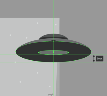 creating the base section of the tractor beam