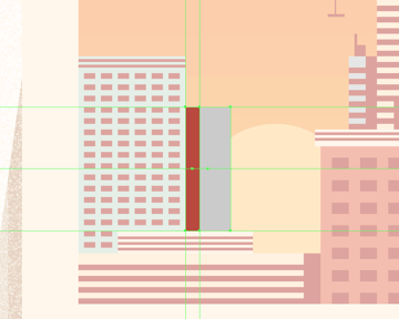 adding the hard-shadow to the smaller left-sided building
