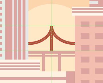 adding the support pylon to the bridge