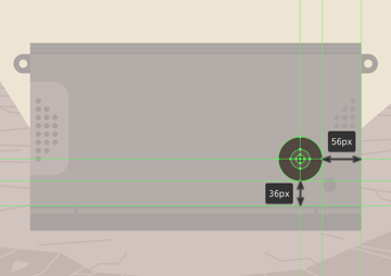 creating the main shapes for the d-pad button