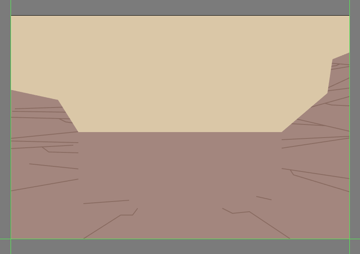 masking the detail lines of the canyon
