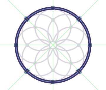 adding the support string segments to the frame