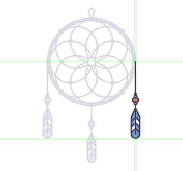 finishing off the dream catcher