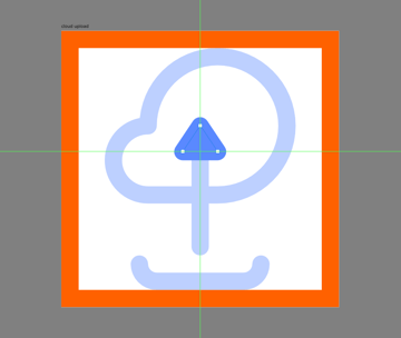 finishing off the cloud upload icon