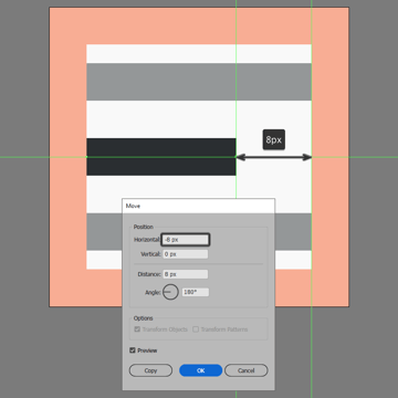 finishing off the left align icon