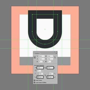adjusting the upper shape of the underline icon