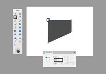 basic shape adjustment in affinity using the transform panel
