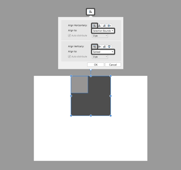 aligning multiple shapes in affinity